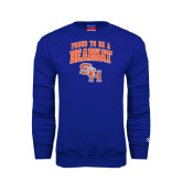 Royal Fleece Crew-Proud To Be A Bearkat Arched