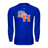 Under Armour Royal Long Sleeve Tech Tee-SH Paw Official Logo
