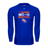 Under Armour Royal Long Sleeve Tech Tee-Tennis Game Set Match