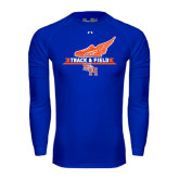 Under Armour Royal Long Sleeve Tech Tee-Track and Field Side Design