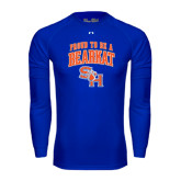 Under Armour Royal Long Sleeve Tech Tee-Proud To Be A Bearkat Arched