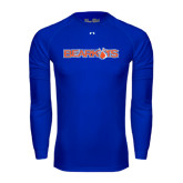 Under Armour Royal Long Sleeve Tech Tee-Bearkats