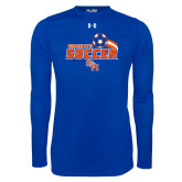 Under Armour Royal Long Sleeve Tech Tee-Soccer Swoosh