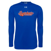 Under Armour Royal Long Sleeve Tech Tee-Softball Lady Design