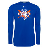 Under Armour Royal Long Sleeve Tech Tee-Softball Design w/ Bats and Plate