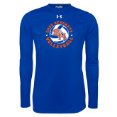 Under Armour Royal Long Sleeve Tech Tee-Volleyball Stars Design