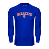Under Armour Royal Long Sleeve Tech Tee-Arched Bearkats w/Paw