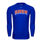 Under Armour Royal Long Sleeve Tech Tee-Arched SHSU Bearkats