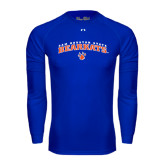 Under Armour Royal Long Sleeve Tech Tee-Arched Sam Houston State Bearkats w/Paw