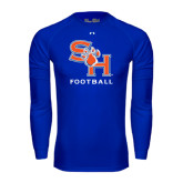 Under Armour Royal Long Sleeve Tech Tee-Football