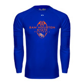 Under Armour Royal Long Sleeve Tech Tee-Tall Football Design