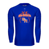 Under Armour Royal Long Sleeve Tech Tee-Basketball in Ball