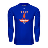 Under Armour Royal Long Sleeve Tech Tee-Golf Stacked