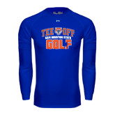 Under Armour Royal Long Sleeve Tech Tee-Golf Tee Off