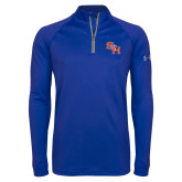 Under Armour Royal Tech 1/4 Zip Performance Shirt-SH Paw Official Logo