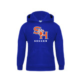 Youth Royal Fleece Hood-Soccer