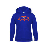 Youth Royal Fleece Hood-Arched Football Design