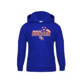 Youth Royal Fleece Hood-Soccer Swoosh