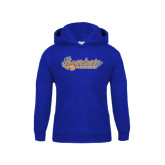 Youth Royal Fleece Hood-Softball Lady Design