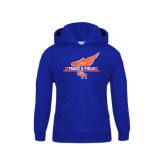 Youth Royal Fleece Hood-Track and Field Side Design