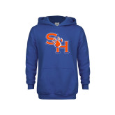 Youth Royal Fleece Hoodie-SH Paw Official Logo