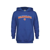 Youth Royal Fleece Hoodie-Arched Sam Houston State Bearkats w/Paw