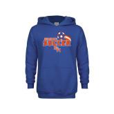 Youth Royal Fleece Hoodie-Soccer Swoosh