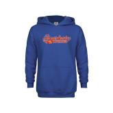 Youth Royal Fleece Hoodie-Softball Lady Design