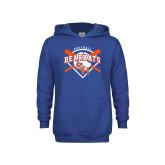 Youth Royal Fleece Hoodie-Softball Design w/ Bats and Plate