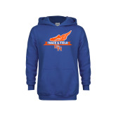Youth Royal Fleece Hoodie-Track and Field Side Design