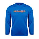 Syntrel Performance Royal Longsleeve Shirt-Sam Houston Bearkats