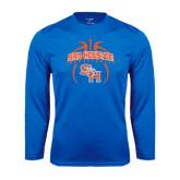 Syntrel Performance Royal Longsleeve Shirt-Basketball in Ball