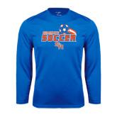 Syntrel Performance Royal Longsleeve Shirt-Soccer Swoosh