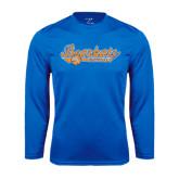 Syntrel Performance Royal Longsleeve Shirt-Softball Lady Design