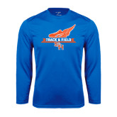 Syntrel Performance Royal Longsleeve Shirt-Track and Field Side Design