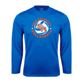 Syntrel Performance Royal Longsleeve Shirt-Volleyball Stars Design