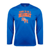 Syntrel Performance Royal Longsleeve Shirt-Proud To Be A Bearkat Arched