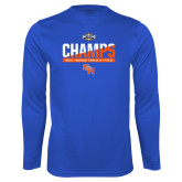 Performance Royal Longsleeve Shirt-Southland Conference Indoor Track and Field Champions