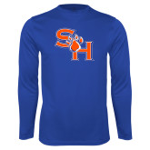 Syntrel Performance Royal Longsleeve Shirt-SH Paw Official Logo