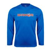 Syntrel Performance Royal Longsleeve Shirt-Bearkats