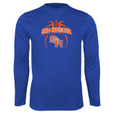 Syntrel Performance Royal Longsleeve Shirt-Basketball in Ball