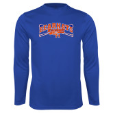 Syntrel Performance Royal Longsleeve Shirt-Baseball Design