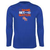 Syntrel Performance Royal Longsleeve Shirt-Tennis Game Set Match