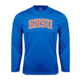 Syntrel Performance Royal Longsleeve Shirt-Arched SHSU