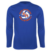 Syntrel Performance Royal Longsleeve Shirt-Volleyball Stars Design