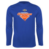 Syntrel Performance Royal Longsleeve Shirt-2017 Southland Conference Baseball Champions