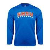 Syntrel Performance Royal Longsleeve Shirt-Arched SHSU Bearkats