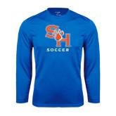 Syntrel Performance Royal Longsleeve Shirt-Soccer