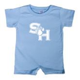 Light Blue Infant Romper-SH Paw Official Logo
