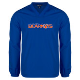 V Neck Royal Raglan Windshirt-Sam Houston Bearkats